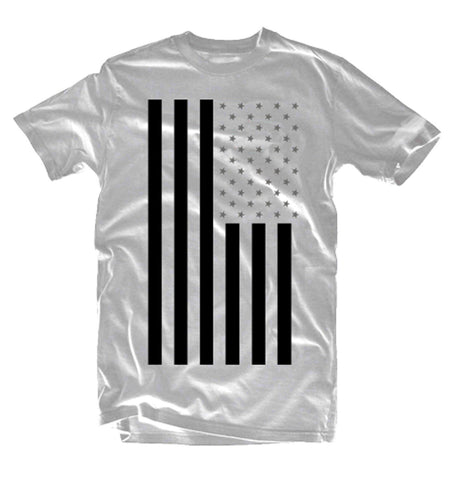Nick Every Classic Flag White Tshirt (black & grey) - Holford soCiety Jordan T-shirt Tees
