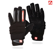 Load image into Gallery viewer, FLG-02 American Football Handschuhe Linemen, neue Passform OL,DL, schwarz