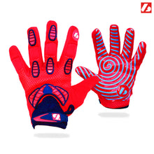 Laden Sie das Bild in den Galerie-Viewer, FRG-02 American Football Handschuhe Receiver, Empfänger fit, RE,DB,RB, rot