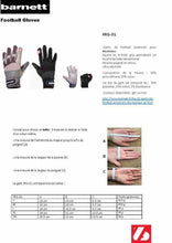 Load image into Gallery viewer, FRG-01 American Football Handschuhe Receiver/Empfänger, RE,DB,RB, grau