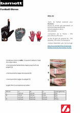 Load image into Gallery viewer, FRG-02 American Football Handschuhe Receiver, Empfänger fit, RE,DB,RB, rot