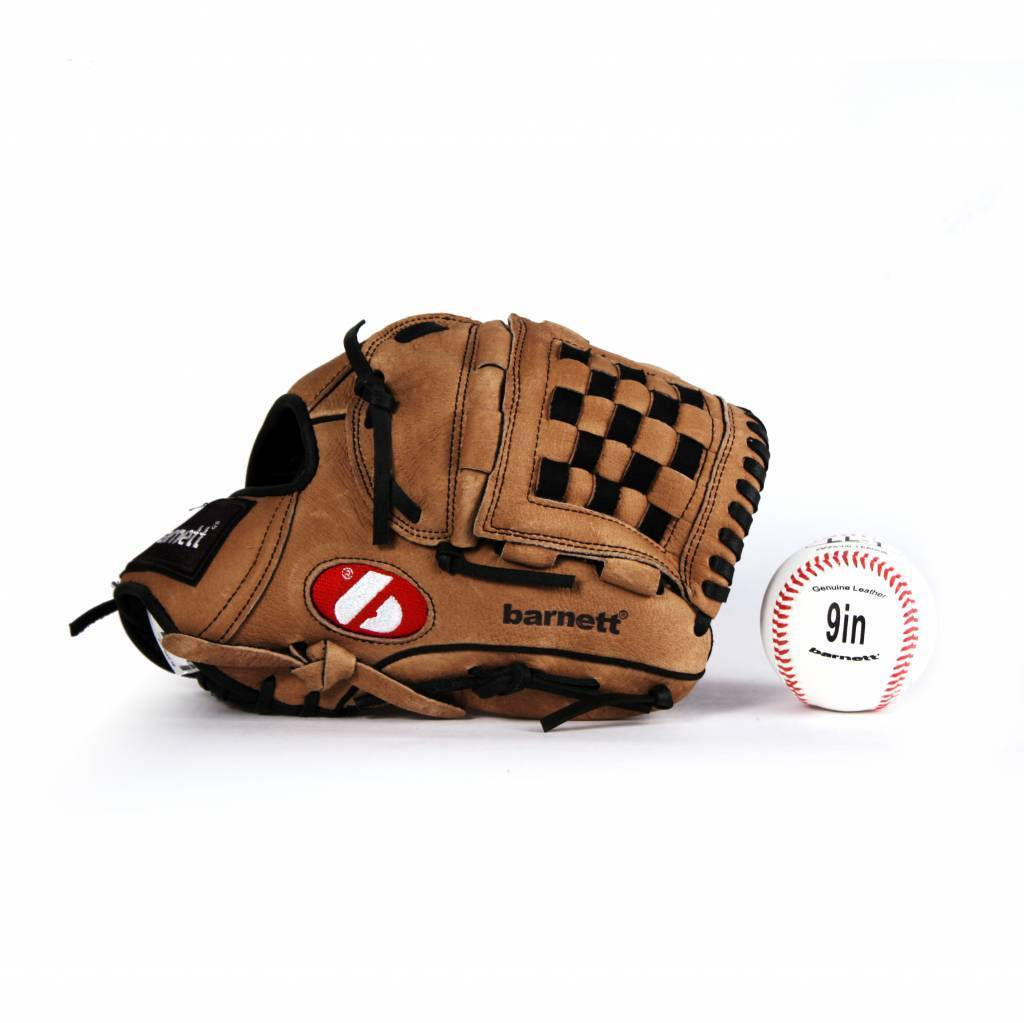 GBSL-2 Basebal Leder Senior Adults Set, Handschuh & Ball, (SL-120, LL-1)