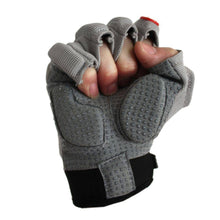 Load image into Gallery viewer, FLGC-02 American Football Handschuhe Linemen neue Passform, kurze Finger, OL,DL, grau