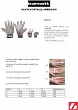 Load image into Gallery viewer, FKG-03 American Football Handschuhe Linebacker Profi, LB,RB,TE, grau