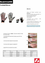 Load image into Gallery viewer, FRG-03 American Football Handschuhe Empfänger Receiver Profi, RE,DB,RB, schwarz