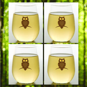 OWL Shatterproof Wine Glasses
