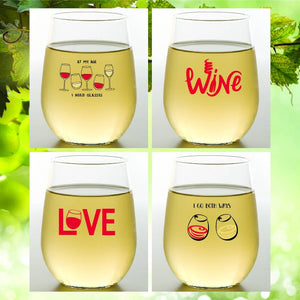 WINE TIME Shatterproof Wine Glasses