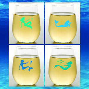 MERMAIDS Shatterproof Wine Glasses