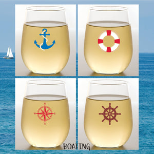 BOATING Shatterproof Wine Glasses