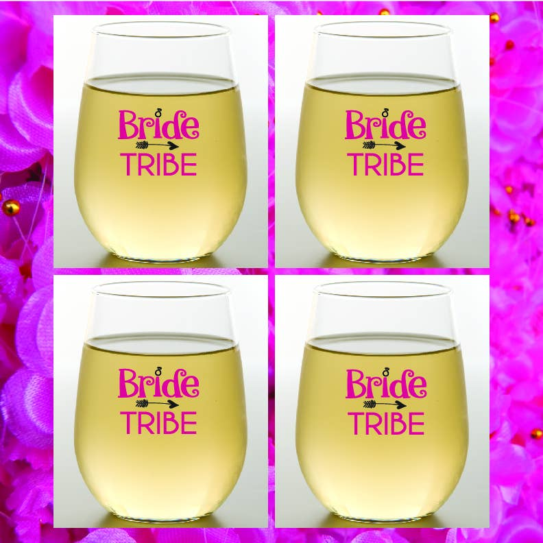 BRIDE TRIBE Shatterproof Wine Glasses