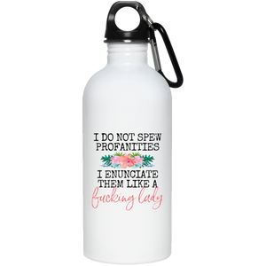 Spew Profanities Water Bottle