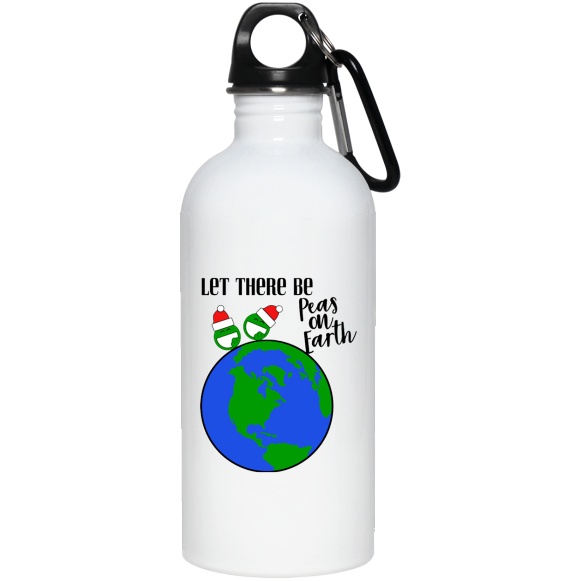 Peas on Earth Water Bottle