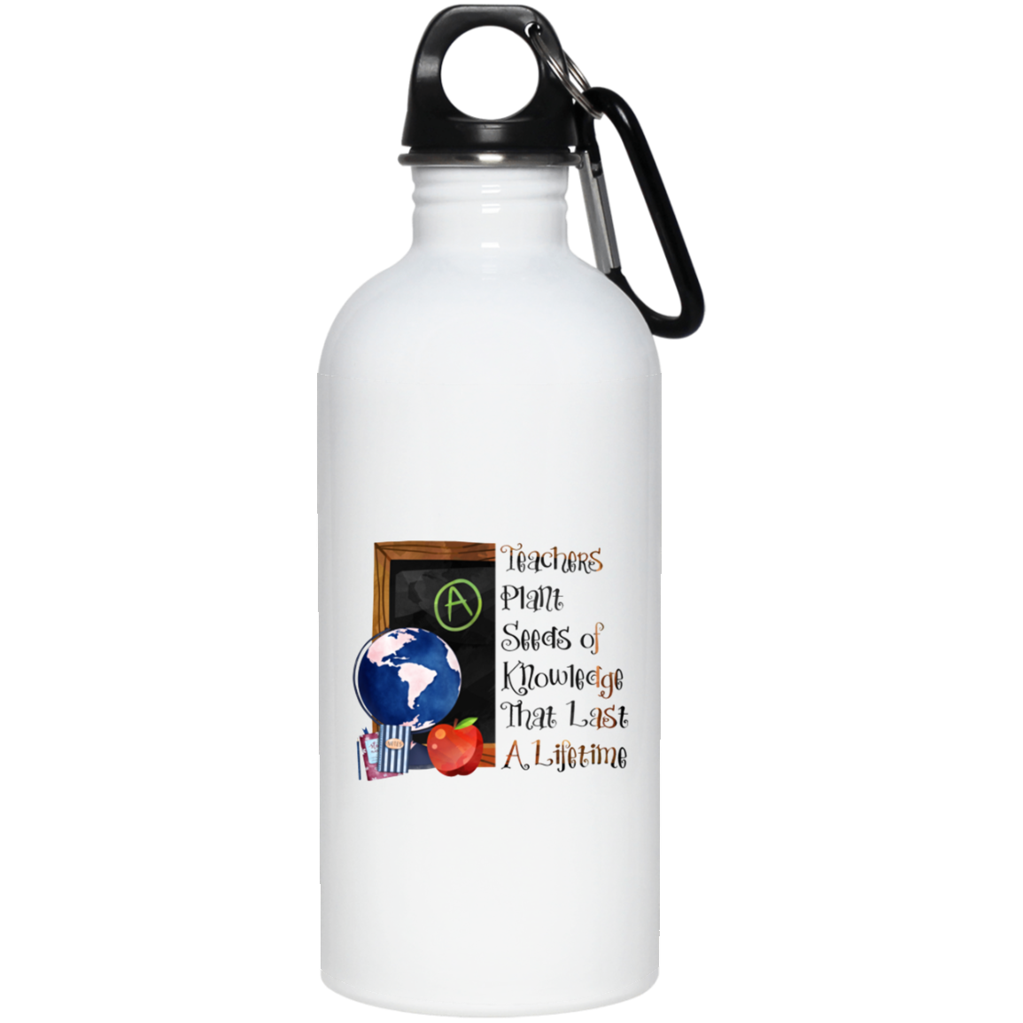 Teachers Plant the Seeds Stainless Steel Water Bottle