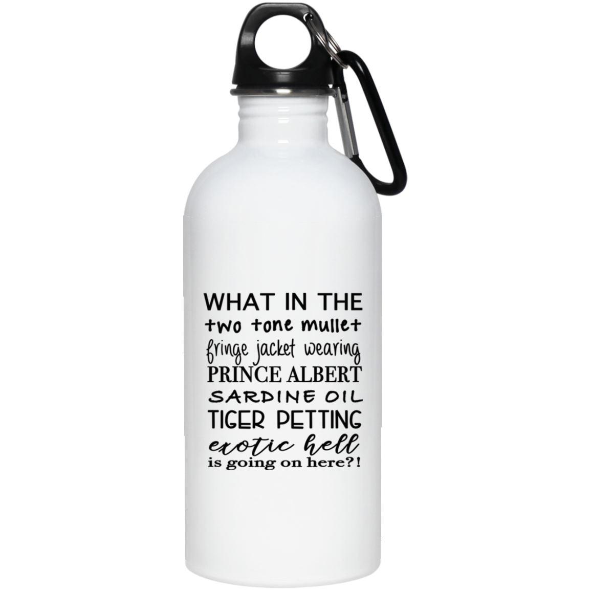 Tiger King Mullet Stainless Steel Water Bottle