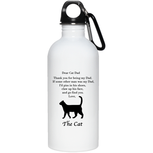 Dear Cat Dad Stainless Steel Water Bottle