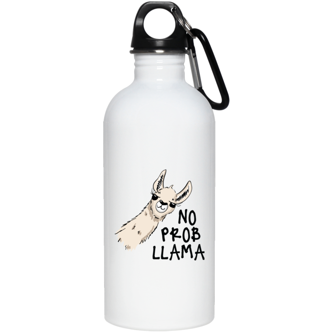 No Problama White Stainless Steel Water Bottle