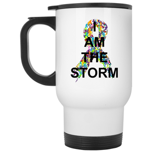 I Am the Storm White Travel Mug