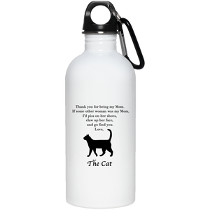 Dear Cat Mom Stainless Steel Water Bottle