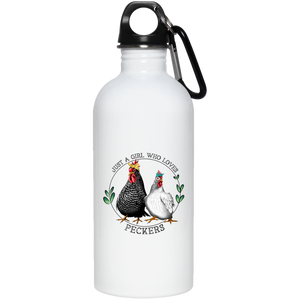 Just a Girl Who Loves Peckers Stainless Steel Water Bottle
