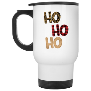 Ho Ho Ho White Travel Mug