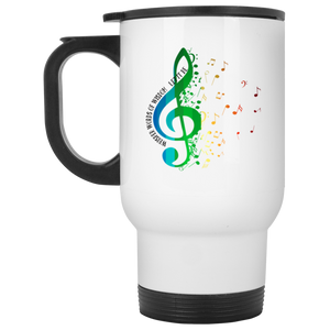 Let It Be White Travel Mug