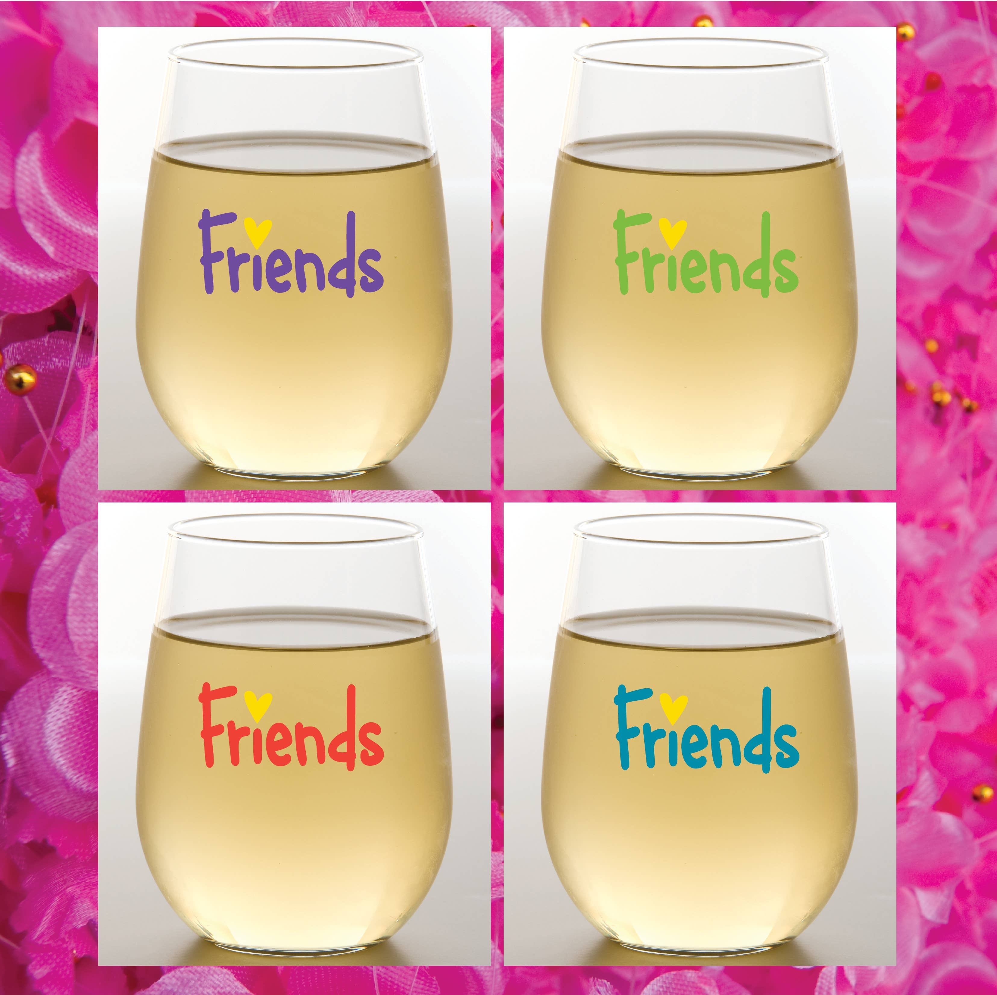 FRIENDS Shatterproof Wine Glasses