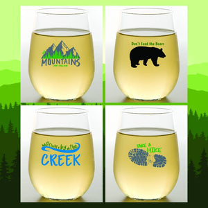 MOUNTAINS Shatterproof Wine Glasses