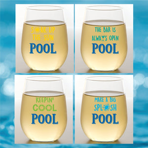 POOL Shatterproof Wine Glasses