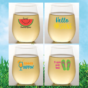 SUMMER Shatterproof Wine Glasses