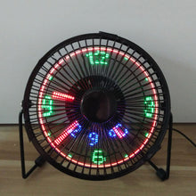 Load image into Gallery viewer, Mini USB Table Desk Cooling Fan LED Clock with Real Time Display Temperature