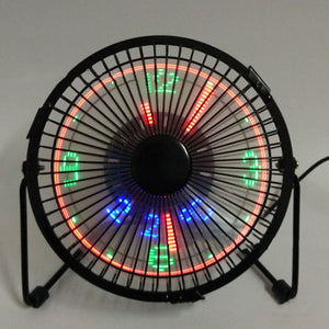 Mini USB Table Desk Cooling Fan LED Clock with Real Time Display Temperature