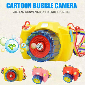 Bubble Machine Toys For Children Electric Music Bubble Camera With Led Outdoor Kids Toys Cute Camera Shape Bubble Makers