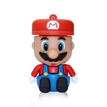 Load image into Gallery viewer, Cartoon Super Mario usb Stick 4gb 8gb 16gb 32gb 64gb Flash Memory Stick Pendrive USB Flash Drive For Tablet PC