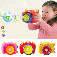 Load image into Gallery viewer, Bubble Machine Toys For Children Electric Music Bubble Camera With Led Outdoor Kids Toys Cute Camera Shape Bubble Makers
