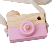 Load image into Gallery viewer, Eco-friendly Wooden Camera Toys with Strap Children Kids Outdoor Wood Toy Baby Photo Props children Christmas Gifts