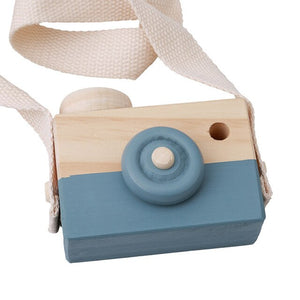 Eco-friendly Wooden Camera Toys with Strap Children Kids Outdoor Wood Toy Baby Photo Props children Christmas Gifts