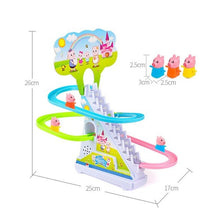 Load image into Gallery viewer, Pig Crawling Stairs Light Music Track Pink Pig Baby Toys Electric Track Puzzle Boy Girl Parent-Child Interactive Toy Kids Gift