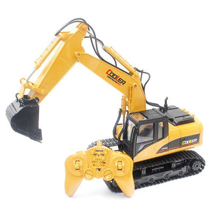 New Hot HN 1350 2.4G 1:14 Simulated Engineering Van Wireless Electric RC Excavator Toy With 15 CH For Children