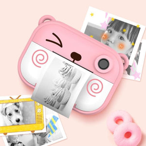 Printing Regular Snapshot Camera Skillful Design and Exquisite Appearance 2.4 inch Multi-function Film with Shoulder Strap