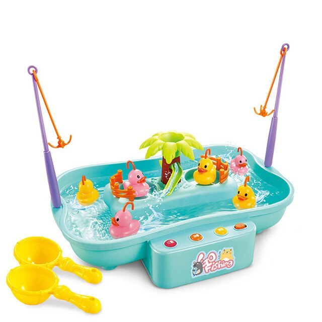 Electric Music Rotary Water Fishing Poor Parent-Child Interaction Puzzle Toy 3D Fish Baby Bath Toys outdoor toy