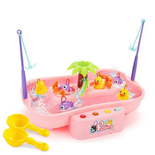 Load image into Gallery viewer, Electric Music Rotary Water Fishing Poor Parent-Child Interaction Puzzle Toy 3D Fish Baby Bath Toys outdoor toy