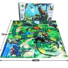 Load image into Gallery viewer, Crazy Dinosaurs Racing Track set