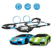 Load image into Gallery viewer, Double Electric Remote Control Toy Train Track Electric Automatic Regulation Circuit Car Racing Track Toy Set Boy Racing Track