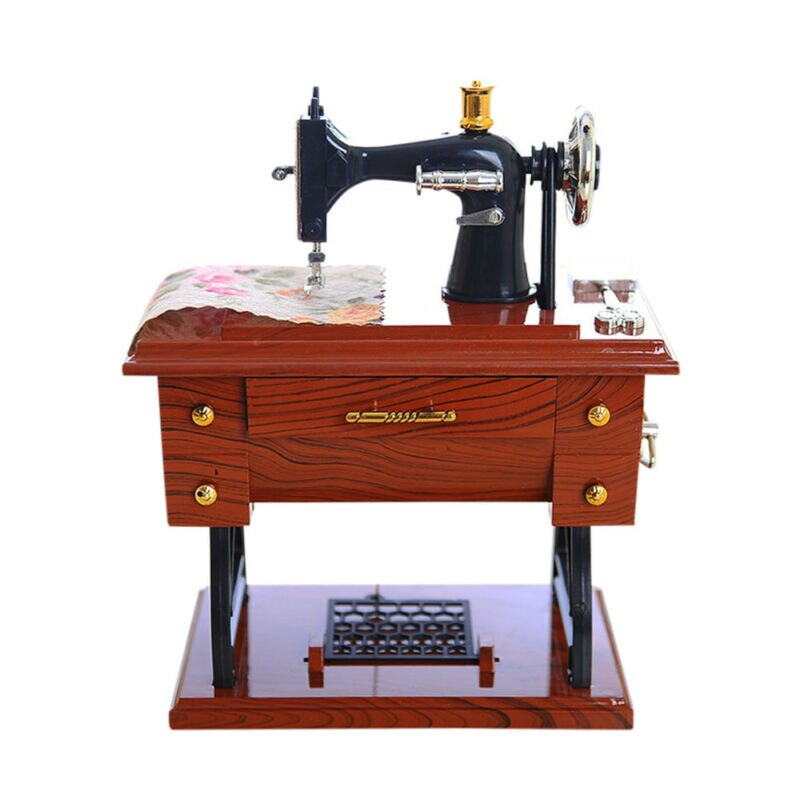Vintage Music Box Mini Sewing Machine