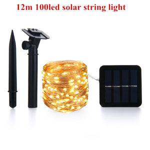 LED Solar Lamp String Lights With Remote Control