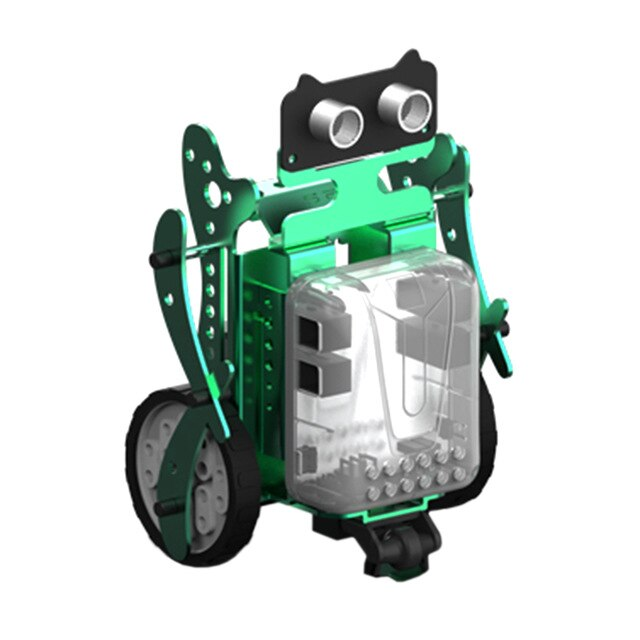 3-In-1 DIY Neo Programming Scratch Intelligent Obstacle Avoidance Car Robot Kit - Green/Red