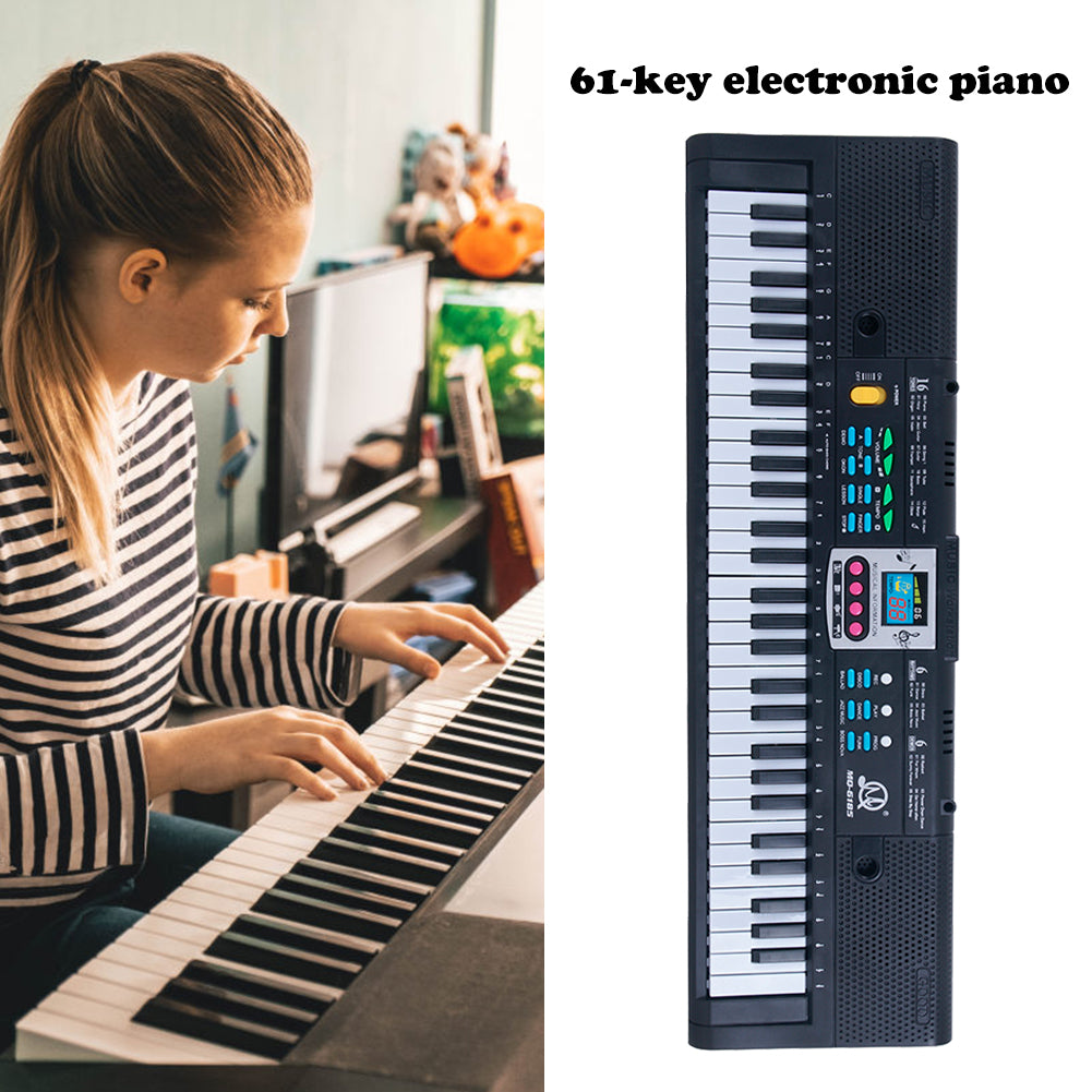 61 Keys Electronic Keyboard Digital Piano Kids Musical Toys with Microphone Electronic Roll Up Piano Children Toys Built-in S