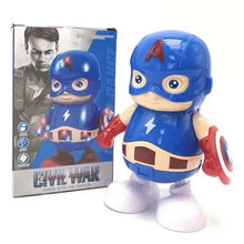 Load image into Gallery viewer, Zhenwei Dancing Robot Iron Man, Bumblebee, Electric Walking Lighting Music Kids Dancing Hero Toy Boy Girl Toy