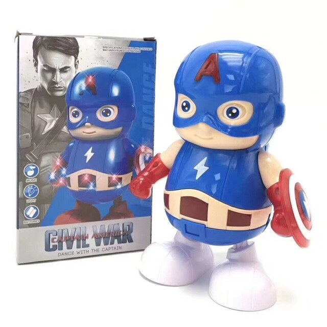 Zhenwei Dancing Robot Iron Man, Bumblebee, Electric Walking Lighting Music Kids Dancing Hero Toy Boy Girl Toy