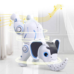 Cute RC Elephant Robot Interactive Children Toy Singing Dancing Remote Control Toy Early Education Toy for Kids Boys Girls Gift
